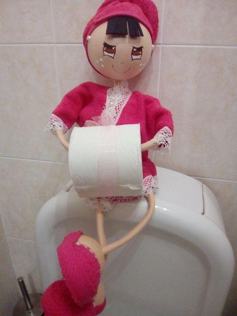 O Estaminé da Xé: Bonecas porta rolo papel higienico