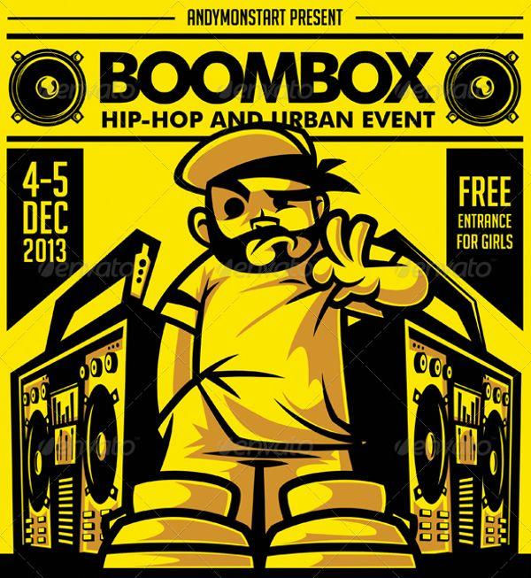 24 best Hip Hop Flyer Template images on Pinterest Flyer - hip hop flyer template