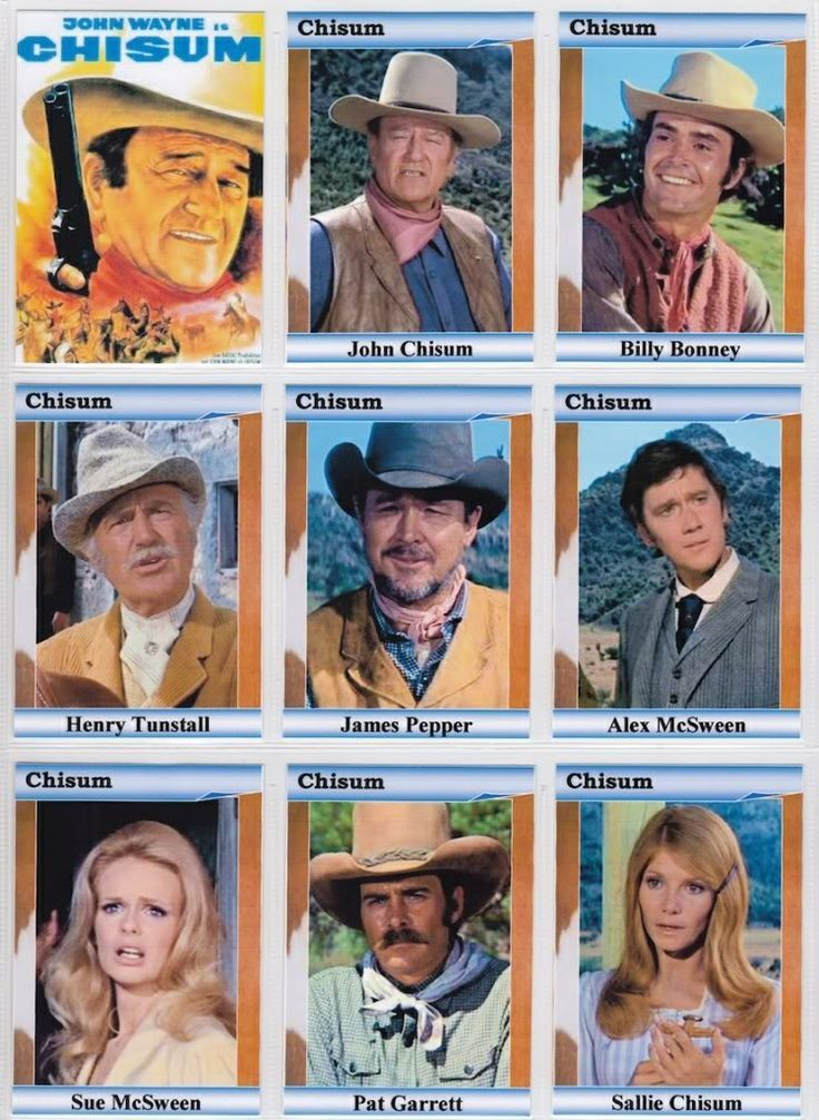 "John Wayne in ""Chisum"". There actually was a person named John Chisum and this movie was based on a true event. Loved the opening music segment ""Chisum. John Chisum. ..."""