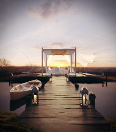 a girl can dream.Spaces, Ideas, Lakes House, Dreams, Sunsets, Relaxing Places, Summer Night, Boats Dock, Backyards