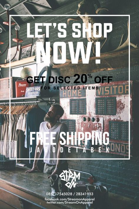 Get DISC and FREE Shipping, Let's NOW.. https://facebook.com/StreamonApparel https://twitter.com/StreamOnApparel