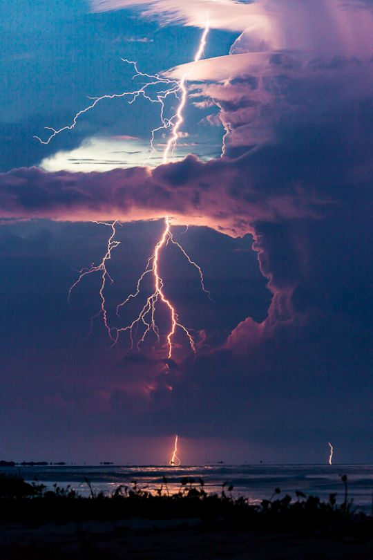 Clear Air Boomer by Jonas Piontek, lightning strikes, clouds, reflections, beauty of Nature, wild
