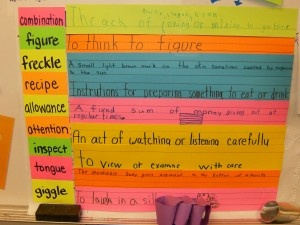 A vocabulary activity from Freckle Juice