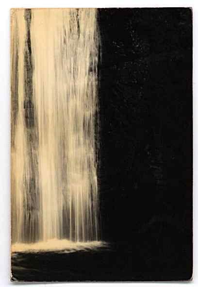 Masao Yamamoto  imagine this on a plate.  porcelain, black glaze wiped away...