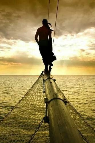 Tobago on duty ----------------------- relaxed tight rope artist repinned by www.facebook.com/loveswish