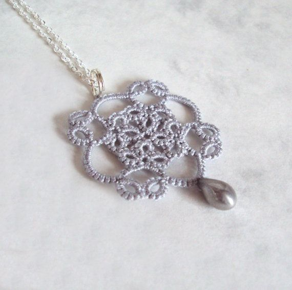 Tudor Lace Pendant in Tatting  Elizabeth by TataniaRosa on Etsy, $20.00