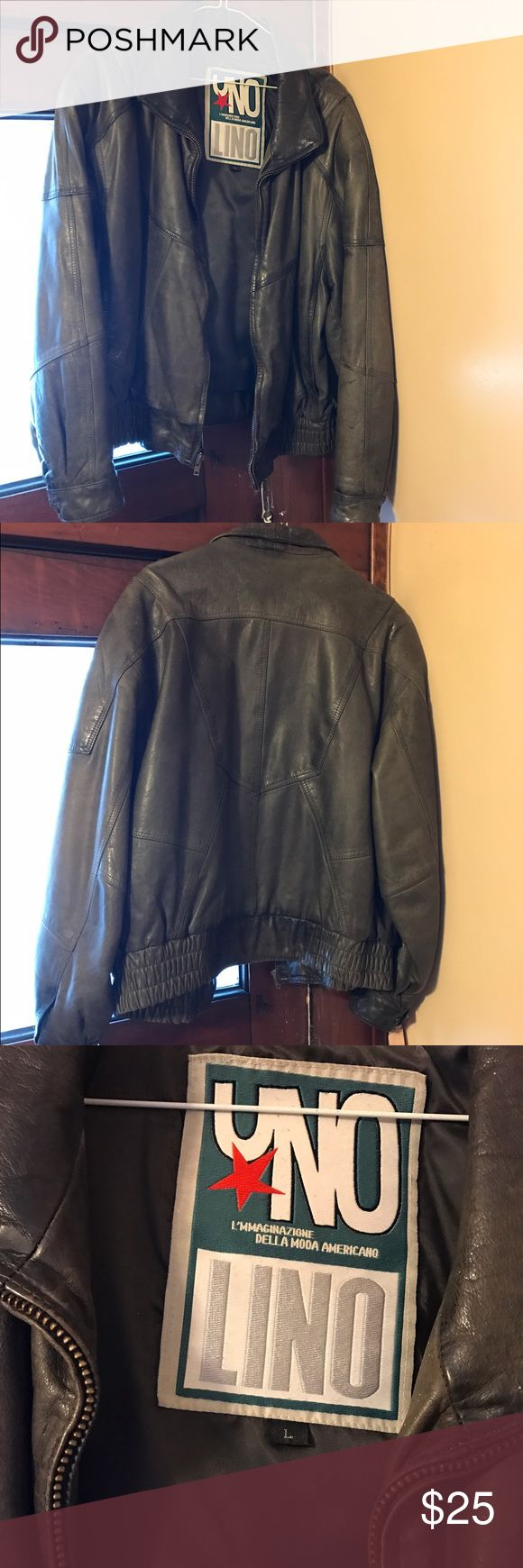 Vintage leather coat Vintage women's size L leather bomber coat. In good condition. From a pet friendly, smoke free home. Jackets & Coats