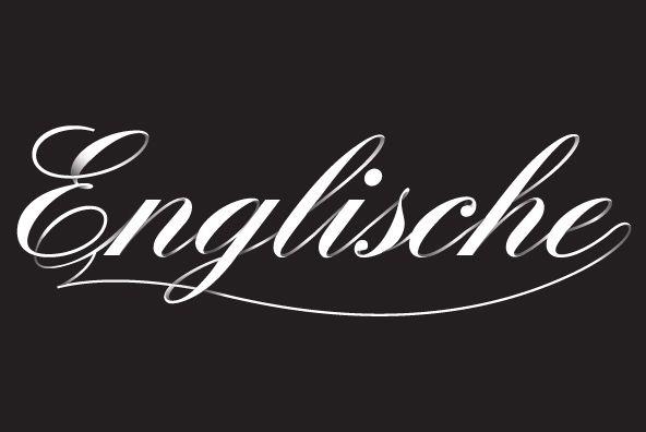 Englische Schreibschrift font.