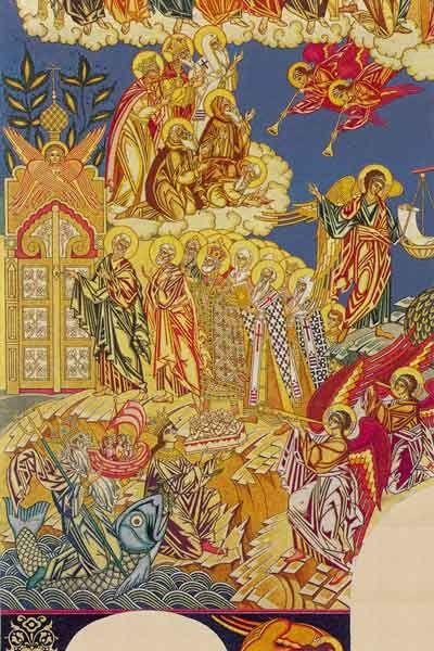 Билибин Иван Яковлевич. Страшный суд. Эскиз фрески для храма Успения Богородицы в Ольшанах 2