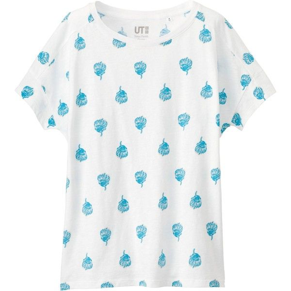 UNIQLO Women's Sister Parish Design Graphic Tee ($15) ❤ liked on Polyvore featuring tops, t-shirts, american tees, graphic tees, graphic t shirts, graphic design tees and uniqlo