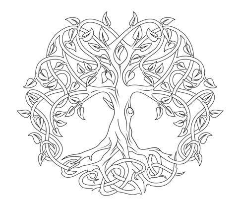 Celtic Tree of Life coloring page from Celtic art category. Select from 21123 printable crafts of cartoons, nature, animals, Bible and many more.