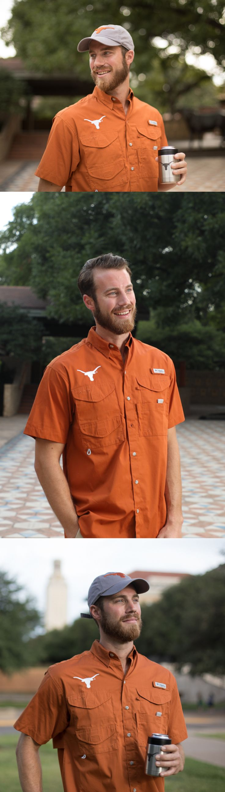 Great for the game! The classic University of Texas Columbia Fishing Shirt is one of our best-selling men's items. The Columbia Fishing Shirt is designed to be comfortable, yet durable, for those active Longhorns. It's made of 100% cotton poplin with a polyester liner. The back has a mesh-lined vent to keep you cool while tailgating or watching a game in the hot September sun. The front has four Velcro-closed pockets to keep your gear secure. If you haven't worn a Columbia Fishing Shirt, you…
