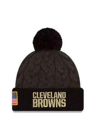 New Era Cleveland Browns Womens Green 2016 STS Knit Hat  24994e2a1