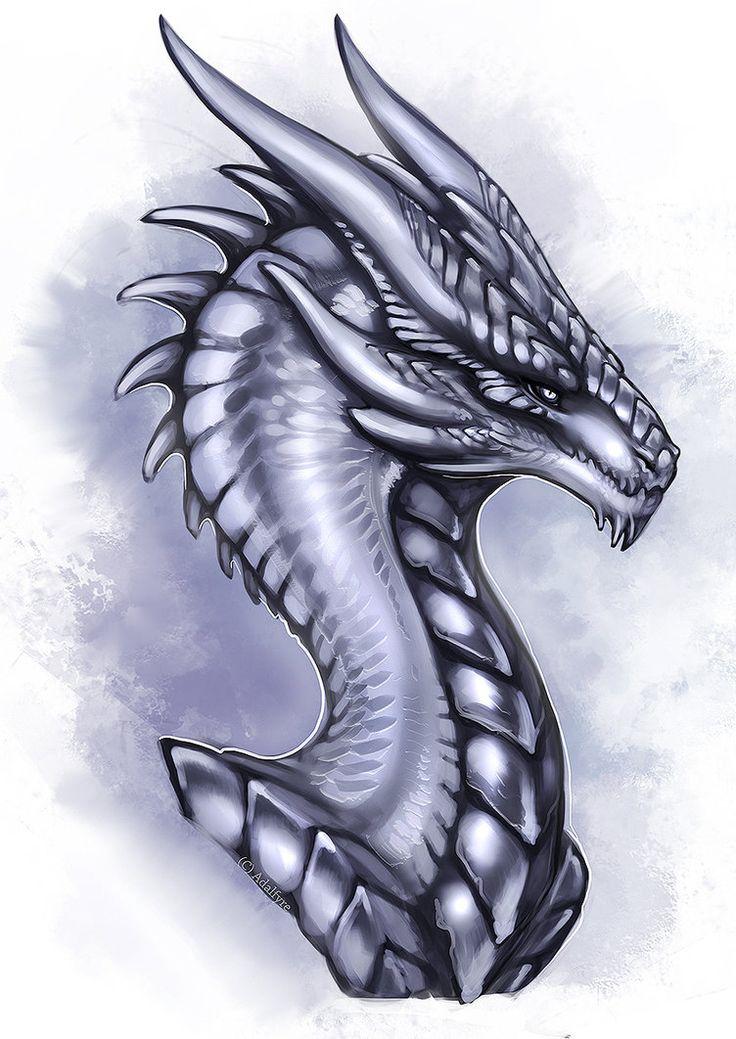 Silver Wyvern by Adalfyre on DeviantArt