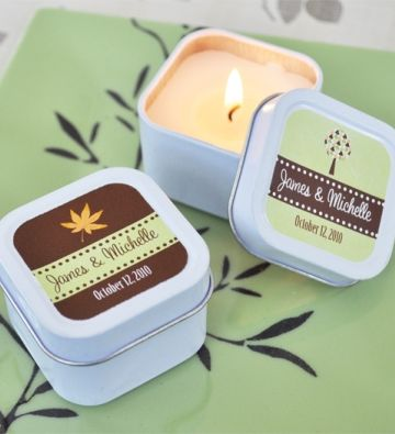 Mi Emporium - Fall for Love Personalised Square Candle Tin Favour