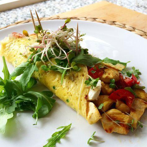 Een gevulde ei-wrap voor je lunch of zelfs als diner. Een lichte maaltijd waarvan je de ingrediënten bijna altijd wel in huis hebt.