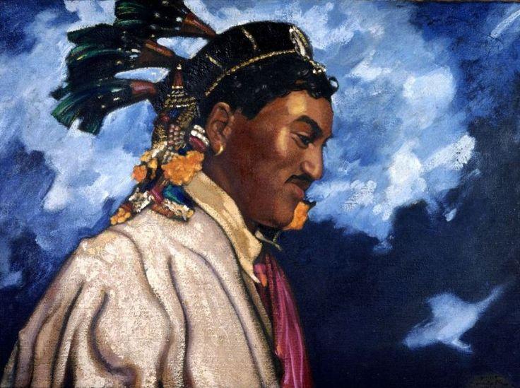 Святослав Рерих. Духовное искусство. Пуджари из Кулу. Холст, темпера 1944 Svetoslav Roerich
