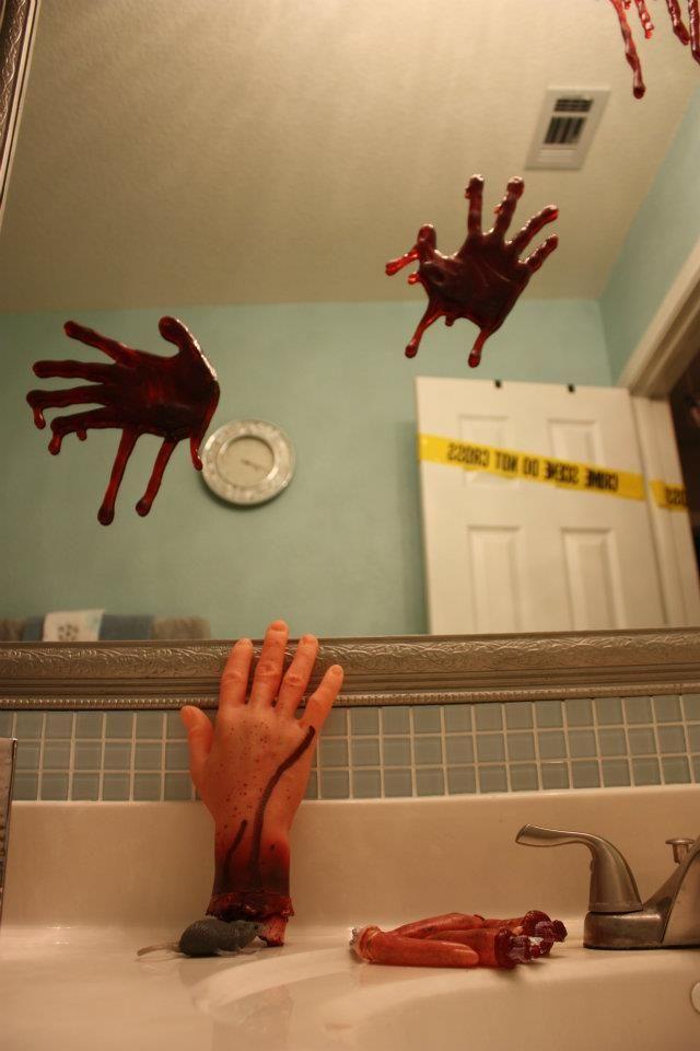 Cortinas De Baño Halloween:Halloween Decoration Murder Scene