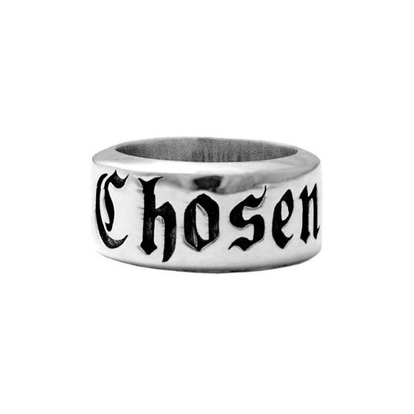 Men's King Baby Chosen Ring (350 CAD) ❤ liked on Polyvore featuring men's fashion, men's jewelry, men's rings, silver, mens rings, mens watches jewelry, mens gothic rings and mens engraved rings