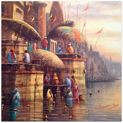 Awareness of contemporary  Indian Art. It has a wide range of India's paintings by Indian Artist.  One of the impressed paintings exhibited at ' world art dubai' .