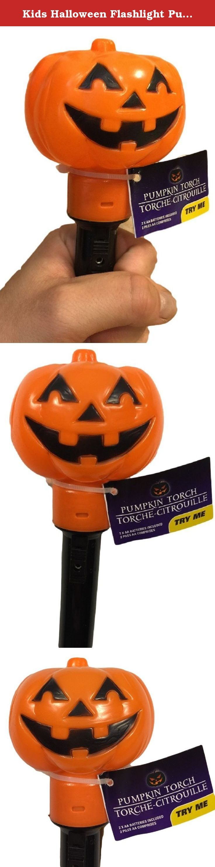 Kids Halloween Flashlight Pumpkin Trick or Treat Torch Hand Held Mini Safety Children Night Light. Hunting for candy on Halloween night can be dark and scary for little Trick or Treaters. Help them find the way easily with this cute pumpkin flashlight. It's very lightweight and fits comfortably in small hands so it is easy for them to hold onto and carry. And the cute pumpkin face won't be too scary for little children. A big plus is that you will be able to keep an eye on your own little...