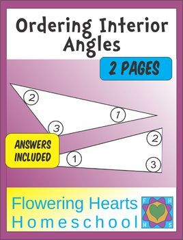 These two worksheets challenge your students to consider the inside angles of triangles, and write numbers to order the angles. This can introduce your student to angles, measuring angles with a protractor, and the classifications of triangles.