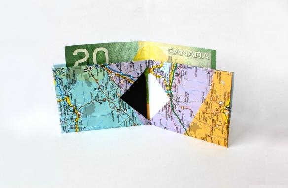 Make you own paper wallet. Tyvek works great too.