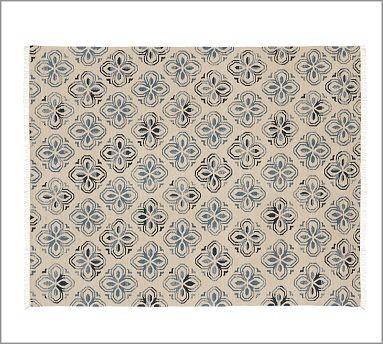 Alhambra Tile Dhurrie Rug - Blue #potterybarn: Living Rooms, Tile Dhurri, Living Room Rugs, Barns Alhambra, Alhambra Tile, Rooms Rugs, Dhurri Rugs, Pottery Barns, Blue Potterybarn