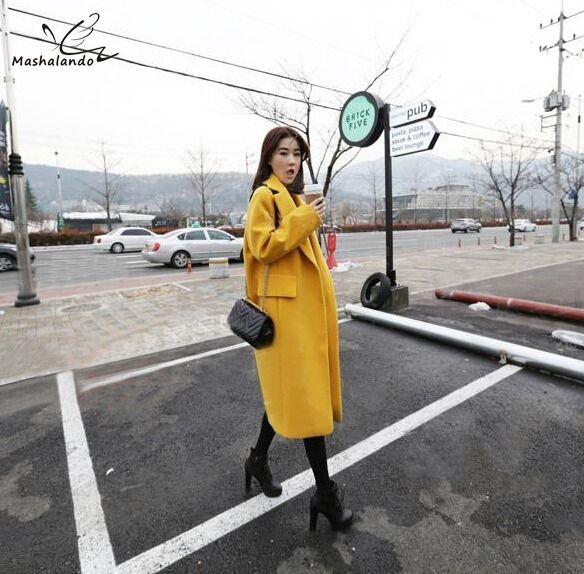 >> Click to Buy << 2016 Autumn Winter Women Oversize Solid Overcoat Imitated Cashmere Woolen Outerwear Thicken Loose Long Coat Plus FreeSize #Affiliate