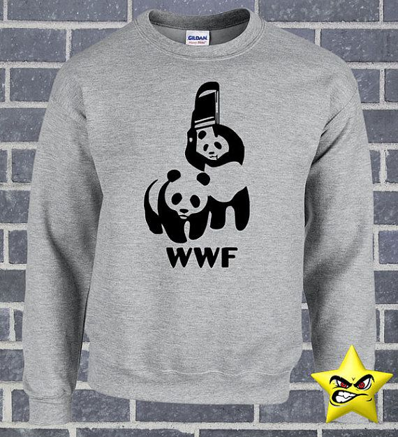WWF WWE Funny Cool Awesome Panda T-Shirt World Wide by StarTee