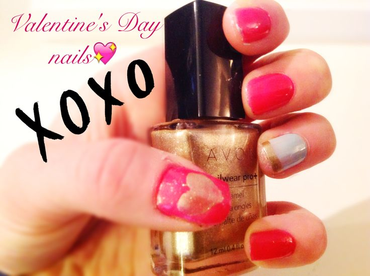 Cute Valentine's Day nails>by Grace Teal