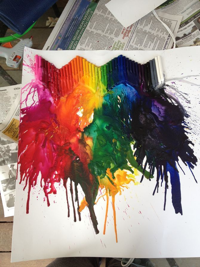 How to Make Melted Crayon Art: 12 Steps (with Pictures)