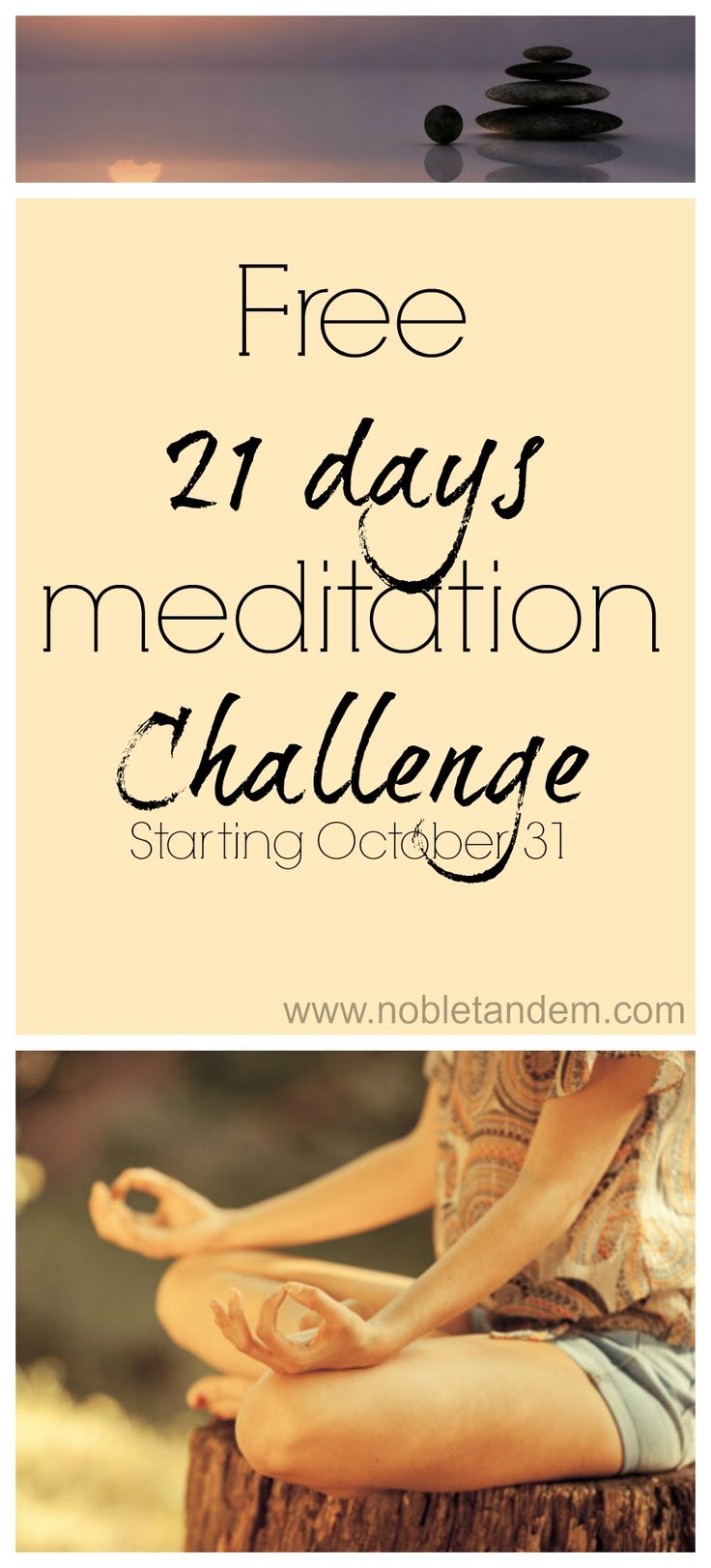 For this new challenge, which begins on the 31st of October the new theme is: Creating Peace from the Inside Out. I just think it's going to be a great one, I can't wait to start ! http://www.nobletandem.com/new-free-21-days-meditation-challenge-deepak-chopra/