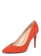 Womens Orange 'Evie' V-Shape Court Shoes- Orange