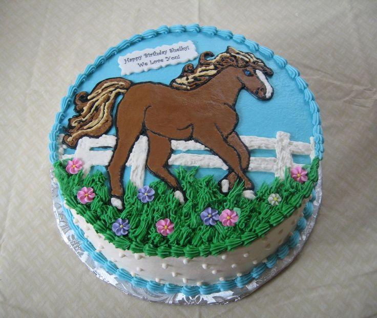 Birthday Cake Ideas With Horses : Round Horse Birthday Cake Cake Decorating Pinterest