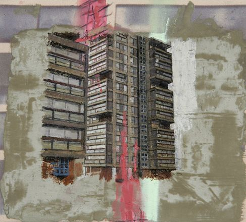 David Hepher council estate painting