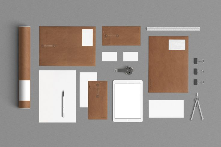 2 Stationery Mock Up - Kraft Paper by Qeaql on Creative Market
