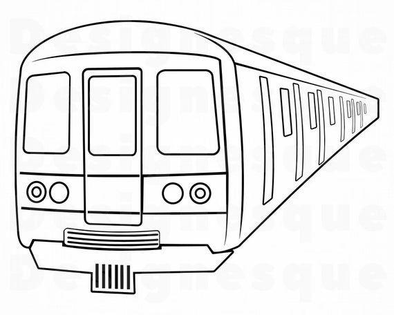 Subway Train 2 Svg Subway Train Svg Metro Svg Subway Svg Etsy In 2021 Train Clipart Subway Train Train Illustration