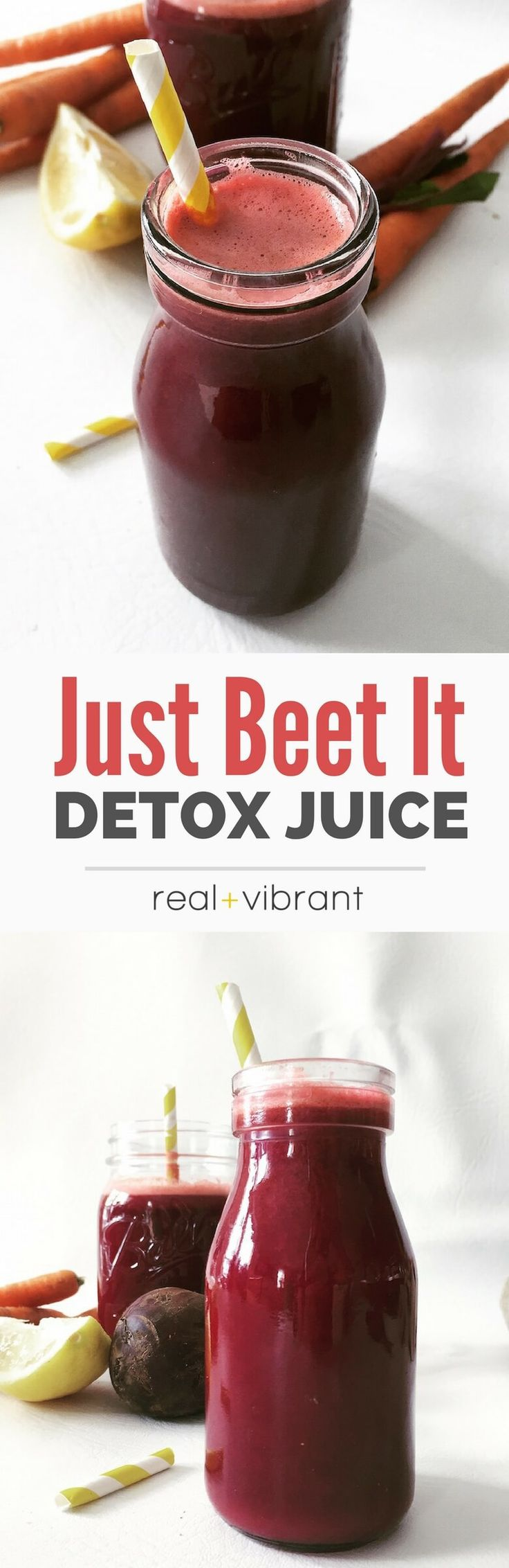 Just Beet It! Juice - This beautiful and vibrant juice is a great everyday elixir to kick off your day! | realandvibrant.com