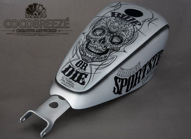 PAINTED PARTS – COCOBREEZÉ – Custompainting, Airbrush, Pinstriping, Lettering, Metal Flake und co.