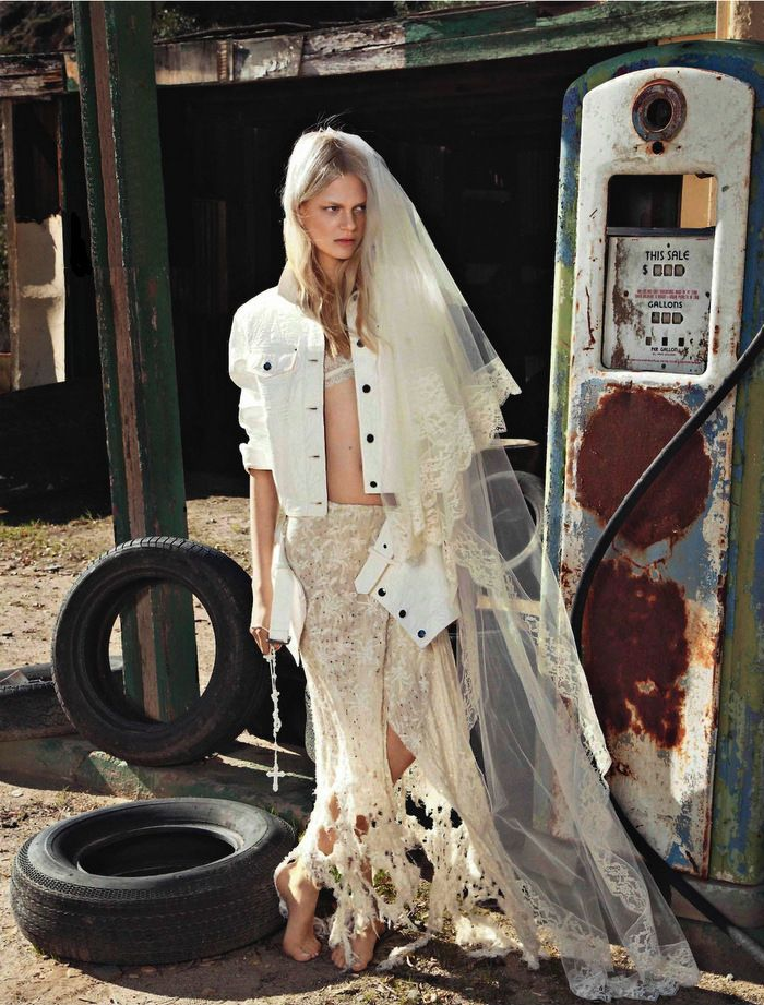 Glamour Magazine- France. Now that's our kind of Bride!