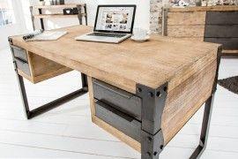 Bureau Design Gebruikt.Een Bureau In Industrial Design Hardhout 135cm Voor Een
