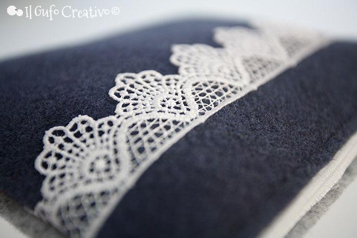 Macramè on blue pochette - Il Gufo Creativo   Flickr – Condivisione di foto!