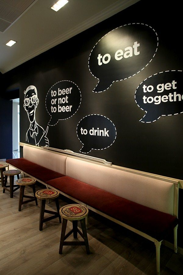 Cafe Restaurant Wall Design : Best cafe wall ideas on