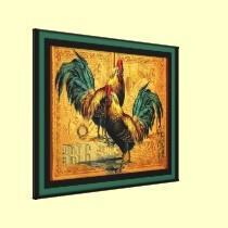 Roosters canvas prints by seaskys