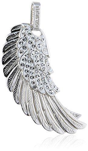 Engelsrufer Damen-Anhänger Kristall 925 Sterling Silber rhodiniert groß Crystal ERW-L2-01-ZI