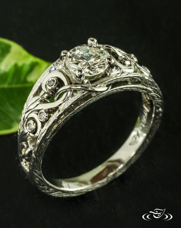 Tree Amp Vine Engagement Ringthis Unique Engagement Ring