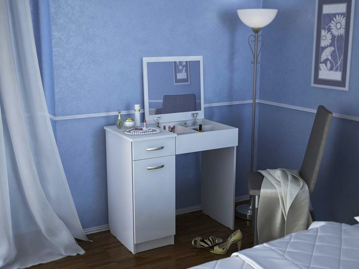 Туалетный столик с зеркалом Риано-3 Белый