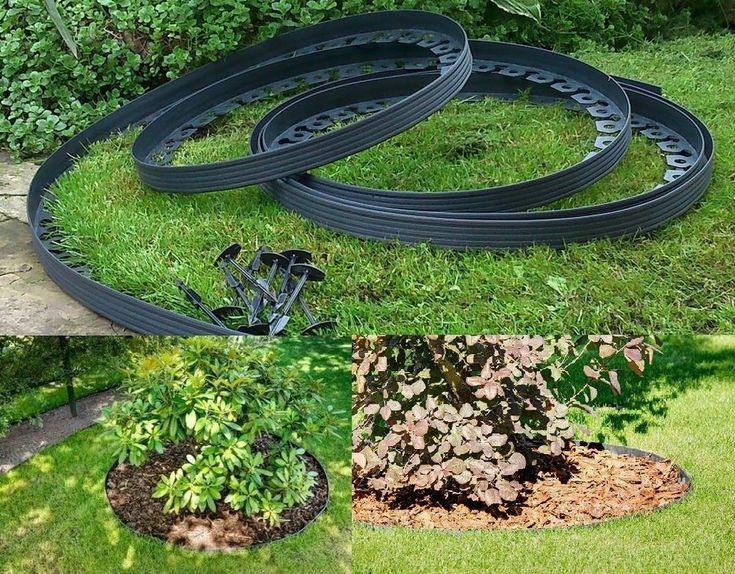 Garden Lawn Edging Flexible Plastic Garden Border 10m + 50 ...