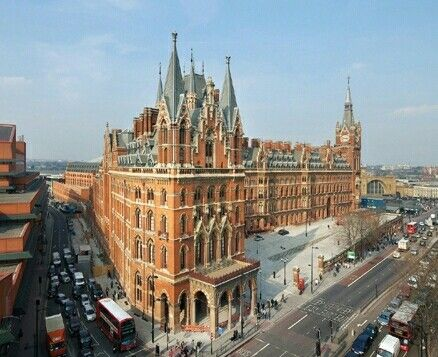 St Pancras Station, Euston Road - completed 1873 - height (clock tower) 270 feet